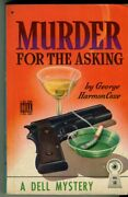 Coxe George Harmon. Murder For The Asking. Vintage Paperback. Map Back. 1939