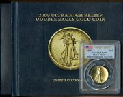 2009 American Double Eagle Gold 20 Pcgs Ms69 Ultra High Relief Coin - Jl240