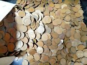 Lot Of 2500 Mixed 1920's Twenties Dates 1920 - 1929 Lincoln Wheat Cents Pennies