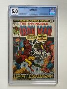 Iron Man 55 Cgc 5.0 White Pages 1st App Thanos And Drax 1973