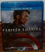 Captain America The First Avenger Blu-ray 3d + Blu-ray New No Open R2