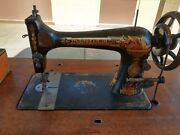Singer 1894 Treadle Sewing Machine In Its Original Cabinet, Works, Accessories.