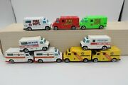 9 Variations Hot Wheels American Ambulance Fire Dept Rescue Squad Collection Lot