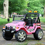 First Drive Jeep Wrangler Kids Electric Ride On Car With Remote Pink Open Box