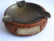 Rare Wwii Ww2 German 1st Elite Division Lah Ashtray Weihn 1941 Russland H.hubbes
