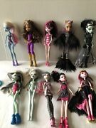 Monster High Doll Lot Of Ten Draculaura, Lagoona Blue, Scares City Of Frights