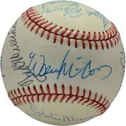 500 Home Run Club Signed Vintage Toned Baseball With 12 Sigs - Psa V14211