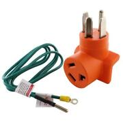 Ac Works Plug Adapter Orange Pvc 250 Volt 5 Ft. Grounding Wire By Ac Works 11