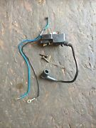 Oem Husqvarna 350 Chainsaw Ignition Coil With Wires And Bolts... Bin T72