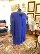 Beautiful Draped Patra Mother Of The Bride/groom Or Formal Royal Blue Dress 14