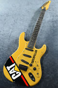 Carvin Caterpillar Strat Yellow Made In Usa Sss Used Electric Guitar