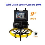 164ft 9 Wifi Drain Inspection Cleaner Sewer Camera Dvr 16gb Support Android/ios
