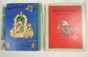 Wee Willie Winkie + Hansel And Gretel 1938 Antique Childrens Books Lot Rare