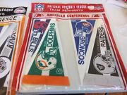 Unopened Pack Rare Pennants Sealed Mt 8inch Nfl Afc Conference