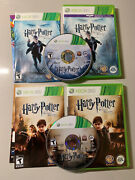 Harry Potter And The Deathly Hallows Part 1 And2 Xbox 360 W/ Manuals