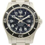 Auth Breitling Watch A17392 A192b68pss Super Ocean Ii 44 Automatic Volcano Black