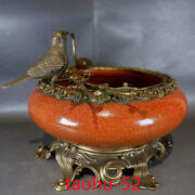 8.0chinese Antique Porcelain Qing Dynasty Chicken Blood Red Glaze Washing