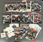 18 New England Patriots Yearbook And Game Day Program Magazine Lot 1990s 2000s