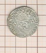 Louis Xiii 1/4 Quarter Dand039 Ecu In The Hammer 1643 F Angers