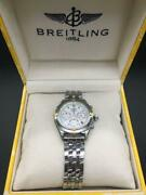 Auth Breitling Watch Chrono Cockpit 1884 Date Vintage F/s
