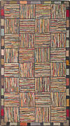 Antique American Hooked Rug 5and0397 X 3and0391