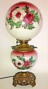 Antiquelovely Gone With The Wind Parlor Banquet Lamp Gwtw Floralelectrified