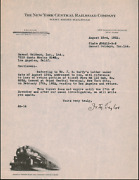 The New York Central Railroad 1932 Signed Letter About Grand Central Terminal