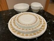 20 Piece Set Vintage Corelle Corning Butterfly Gold Complete 4 Person Dinnerware