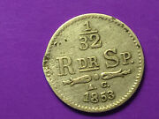 1/32 Riksdaler 1853 And 1 Krona 1875 2x Silver Coins Sweden, Norway