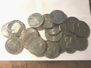 Mixed Dates Clad Eisenhower Dollars 20-coin Roll Bu And Proofs 11235