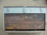 Kennedy Rusty Machinist Toolbox Tool Box Requires Complete Restoration Project