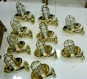 Outdoor And Indoor Nautical Vintage Style Wall Sconce Light Made Of Brass 10 Piece