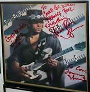 Stevie Ray Vaughan Signed X 3 Texas Flood Album Cover W/ Vinyl - Could Be Wild