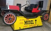 Model T Coin Operated Hot Rod Race Car Kiddie Ride Vintage And Helicopter