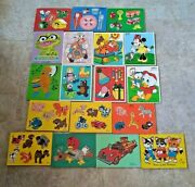 Vtg Wood Puzzle Lot 18 Connor Siffo Playskool Kittens Indian Fire Truck Disney