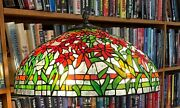 Antique Studios Reproduction Black Eyed Susan 20 Inch Leaded Glass Shade