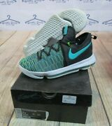 Nice Nike Zoom Kd 9 Kevin Durant Birds Of Paradise Green Black Gs Youth 7y