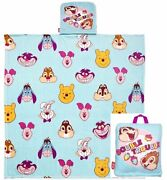 Oh My Disney Travel Throw Blanket Double Trouble Chip Dale Pooh Eeyore Cheshire