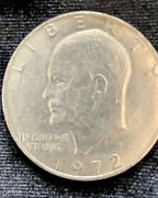 2 Eisenhower 1dollar Coins 1972 With No Mint Marks Nice Condition.