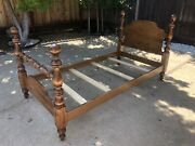 Very Rare Heirloom Cannonball Bed By Ethan Allen Twin Bed 10-5621 211