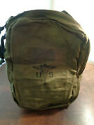 Vintage U.s Army Combat Medic Instrument And Supply Bag Backpack M-5