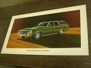 Oem Chevrolet 1971 Chevelle Station Wagon Dealership Display Picture Cardboard