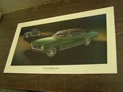Oem Chevrolet 1972 Chevelle Malibu Coupe Dealership Display Picture Cardboard