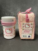 Hello Kitty Vintage Lunch Bag With Thermos And Containers. Made In Japan 1999