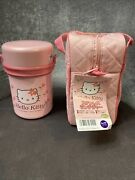 Hello Kitty Vintage Lunch Bag With Thermos And Containers. Made In Japan 1998