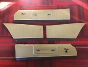 1973 1974 Dodge Charger Se Brougham Set Of 4 Gold Upper Door Panels Front And Rear