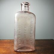 Martin J. Welsh Baltimore Md Antique Pre Prohibition Whiskey Flask C.1890-1920