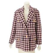 Authentic Tweed Check Jacket 569132 Multicolor Size 42 Never Used