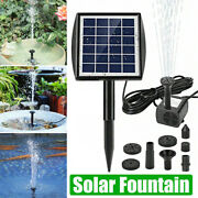 Solar Power Fountain Water Pump Panel Garden Pond Pool Submersible Water 200l/h