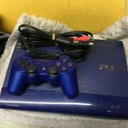 Playstation 3 Super Slim 250gb Azurite Blue Console Cech-4000b From Japan Used